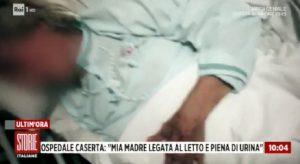 """Storie Italiane, la testimonianza: """"Mia madre 85enne legata a un letto tra lenzuola sporche di sangue"""""""