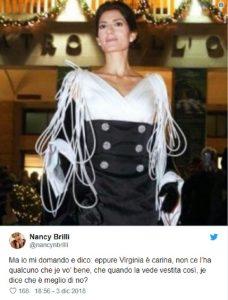 Nancy Brilli vestito toga