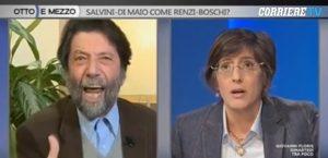 """Decreto sicurezza, Cacciari urla alla Bongiorno: """"Vergognatevi!"""", """"La vedo confuso"""""""