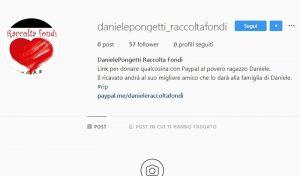 La finta pagina raccolta fondi su Instagram