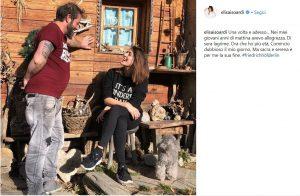 Elisa Isoardi, commento volgare alla foto col fratello