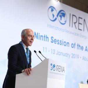 Enel, Francesco Starace alla nona assemblea dell'Agenzia internazionale per le energie rinnovabili