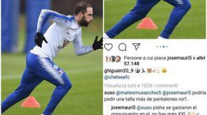 """Milan, ex compagni prendono in giro Higuain: """"Al Chelsea non hanno la XXL?"""""""