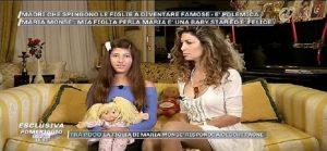 """Maria Monsè, la figlia di 12 anni a """"Pomeriggio 5"""": """"Il mio sogno? Far indossare un mio abito a Chiara Ferragni"""""""