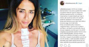 Raffaella Mennoia, su Instagram svela la malattia e l'operazione