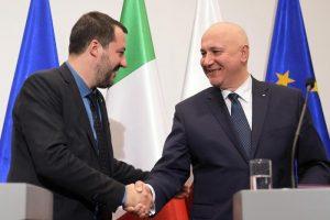 """Salvini: """"Patto in Europa come quello Lega-M5s per avere i sovranisti primo movimento a Bruxelles"""""""