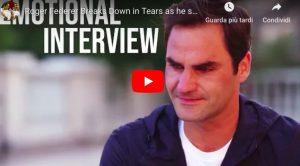 YouTube, Federer scoppia in lacrime durante intervista con la CNN: ecco perché