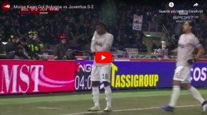 YouTube, Kean più forte del razzismo: gol in Bologna-Juventus e balletto virale