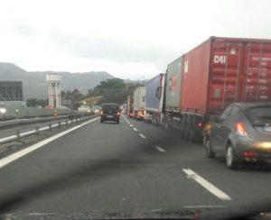 Autostrada A7: incidente tra 6 tir tra Busalla e Ronco Scrivia