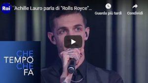 """YOUTUBE Achille Lauro e la gaffe da Fazio: """"Il mio brano ispirato alla musica con la A maiuscola"""""""