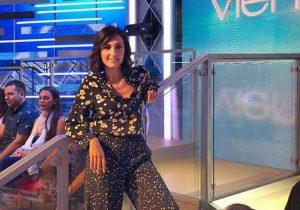 Caterina Balivo e il saluto a Giampiero Artegiani a Vieni da me