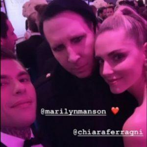 Oscar 2019, Chiara Ferragni e Fedez all'after party: il selfie con Marilyn Manson FOTO