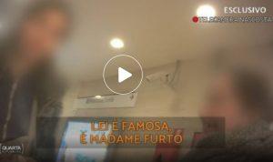 Quarta Repubblica, Madame Furto filmata dalla giornalista Chiara Carbone la minaccia