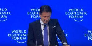 Giuseppe Conte a Davos