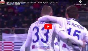 Atalanta batte Cagliari e vola a -1 dal Milan e dalla zona Champions