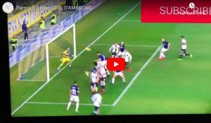 D'Ambrosio video gol Parma-Inter con il braccio, giusto annullarlo