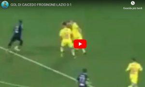 Frosinone-Lazio 0-1, Caicedo gol. Var toglie rigore a Ciano