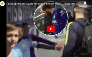 Higuain nei guai, ha sputato nel tunnel del Manchester City. VIDEO
