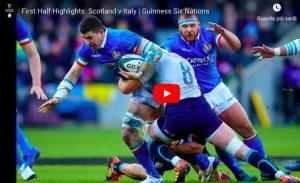 Scozia-Italia 33-20, diciottesima sconfitta consecutiva nel 6 Nazioni di rugby