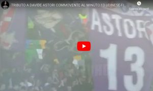 Udinese-Fiorentina, lungo applauso per Davide Astori al minuto 13: VIDEO
