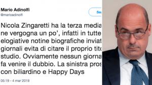 """Adinolfi: """"Zingaretti ha la terza media"""". Ma se si era iscritto all'università..."""