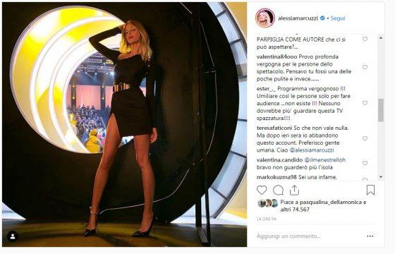 """Isola dei Famosi, tutti contro Alessia Marcuzzi su Instagram: """"Il video messaggio di Corona? Una vergogna"""" 2"""