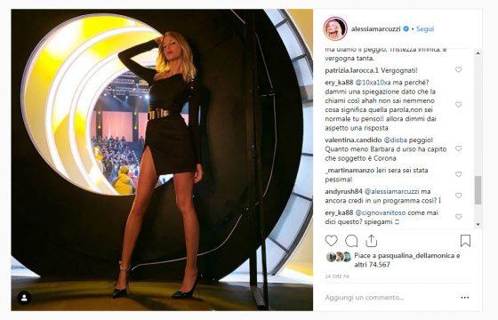 """Isola dei Famosi, tutti contro Alessia Marcuzzi su Instagram: """"Il video messaggio di Corona? Una vergogna"""""""