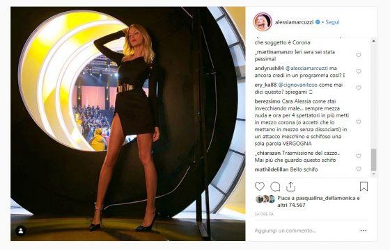 """Isola dei Famosi, tutti contro Alessia Marcuzzi su Instagram: """"Il video messaggio di Corona? Una vergogna"""" 6"""