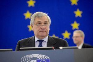 """Antonio Tajani: """"Mussolini? Ha fatto anche cose positive"""" (foto Ansa)"""