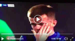 Atalanta-Fiorentina, Ilicic in lacrime nel minuto per Davide Astori: VIDEO