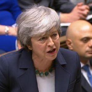 """Brexit, il parlamento boccia il """"No Deal"""". Theresa May: """"Allora bisogna votare per un accordo"""". Corbyn: """"Inevitabile il rinvio"""" (foto Ansa)"""