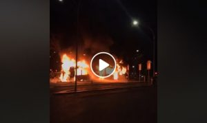 Roma, bus in fiamme a piazzale Clodio