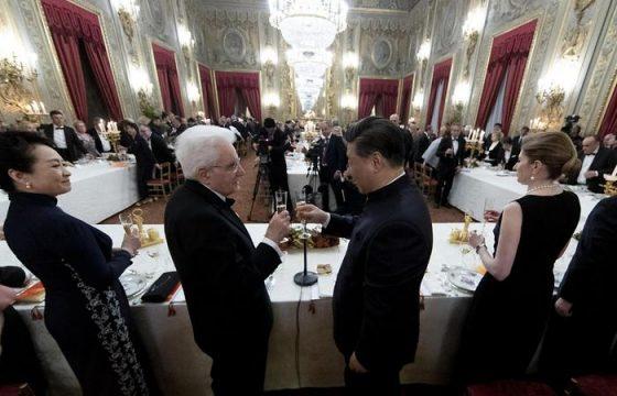 Xi Jinping a Roma: il brindisi con Mattarella al Quirinale2