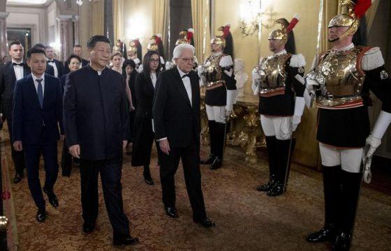 Xi Jinping a Roma: il brindisi con Mattarella al Quirinale3