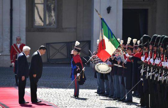 Xi Jinping a Roma: il brindisi con Mattarella al Quirinale6