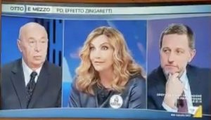 """Otto e Mezzo, Lorella Cuccarini: """"In Italia non si votava da 10 anni"""". Imbarazzo in studio"""