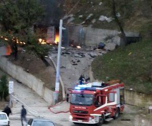 Esplosione in deposito fuochi artificio a Gesualdo: un morto