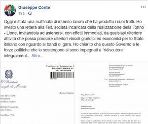 Tav, ecco la lettera con cui Conte ha scansato la crisi: via ai bandi, ma...