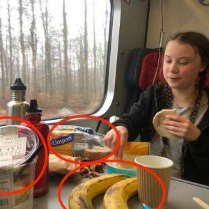 Greta Thunberg e la foto con banane fuori stagione e plastica: attaccata dagli haters