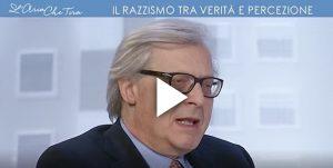 """L'Aria che tira, Vittorio Sgarbi sul razzismo: """"Nessuno si prenderebbe una colf rom"""""""