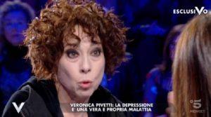 """Verissimo, Veronica Pivetti: """"Depressione? Ho preso anche gli psicofarmaci"""""""