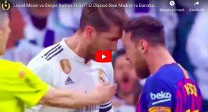 Barcellona, altro trionfo nel Clasico. Real perde testa, manata di Sergio Ramos a Messi