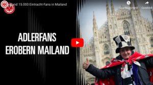 Milano invasa dai tedeschi, tifosi Eintracht marciano verso San Siro: VIDEO
