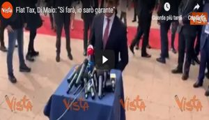 "Flat Tax, Di Maio: ""Si farà, io sarò garante"" VIDEO"