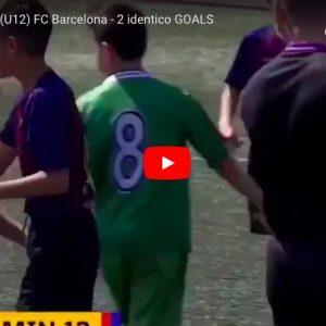 Non è un replay, Genís Torrelles segna 2 gol identici in 2 minuti nelle giovanili del Barcellona