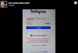 """Alessandra Mussolini grida alla censura: """"Instagram mi ha bloccato il profilo perché..."""""""