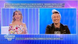 Andrea Mainardi a Pomeriggio 5 annuncia nozze con Anna Tripoli