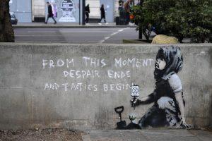 Banksy, murale a Londra vicino ai luoghi della protesta ambientalista di Extinction Rebellion