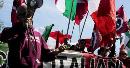 Torre Maura. Antifascisti da una parte, Casapound dall'altra8