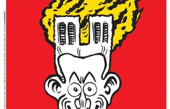 """Notre-Dame, la vignetta di Charlie Hebdo è un'accusa a Macron. Insulti italiani: """"Avete riso dei nostri morti"""" 01"""